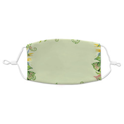 Tropical Leaves Border Adult Cloth Face Mask (Personalized)