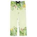 Tropical Leaves Border Mens Pajama Pants (Personalized)