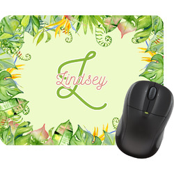 Tropical Leaves Border Mouse Pad (Personalized)