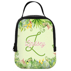 Tropical Leaves Border Neoprene Lunch Tote (Personalized)