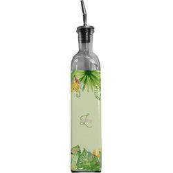 Tropical Leaves Border Oil Dispenser Bottle (Personalized)