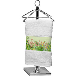 Tropical Leaves Border Finger Tip Towel (Personalized)