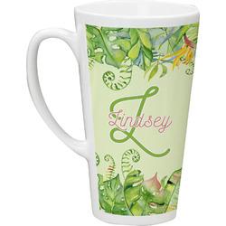 Tropical Leaves Border Latte Mug (Personalized)