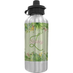 Tropical Leaves Border Water Bottle (Personalized)