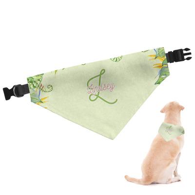Tropical Leaves Border Dog Bandana (Personalized)