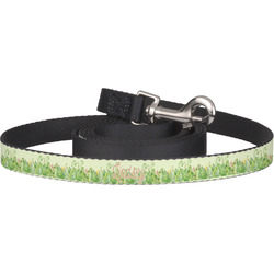 Tropical Leaves Border Dog Leash (Personalized)