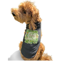 Tropical Leaves Border Black Pet Shirt - Multiple Sizes (Personalized)