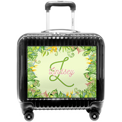 Tropical Leaves Border Pilot / Flight Suitcase (Personalized)