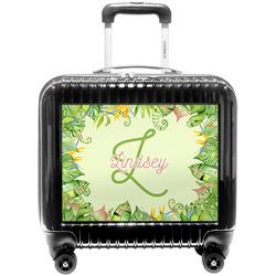 Tropical Leaves Border Pilot / Flight Suitcase (Personalized)
