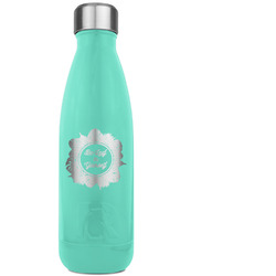 Tropical Leaves Border RTIC Bottle - Teal (Personalized)
