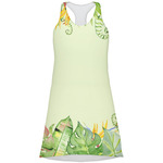 Tropical Leaves Border Racerback Dress (Personalized)