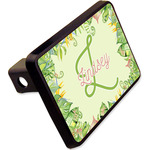 """Tropical Leaves Border Rectangular Trailer Hitch Cover - 2"""" (Personalized)"""