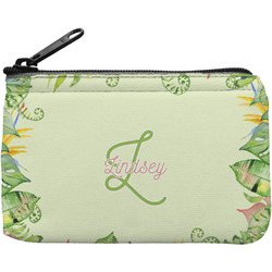 Tropical Leaves Border Rectangular Coin Purse (Personalized)