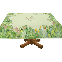 Tropical Leaves Border Tablecloth (Personalized)