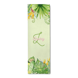 Tropical Leaves Border Runner Rug - 3.66'x8' (Personalized)