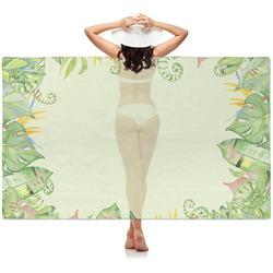 Tropical Leaves Border Sheer Sarong (Personalized)