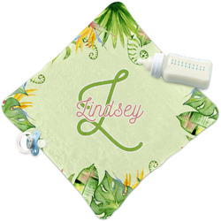 Tropical Leaves Border Security Blanket (Personalized)