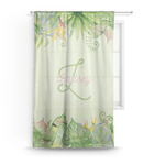 Tropical Leaves Border Sheer Curtains (Personalized)