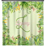 Tropical Leaves Border Shower Curtain (Personalized)