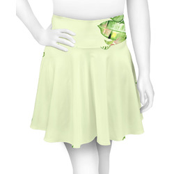 Tropical Leaves Border Skater Skirt (Personalized)
