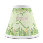 Tropical Leaves Border Chandelier Lamp Shade (Personalized)