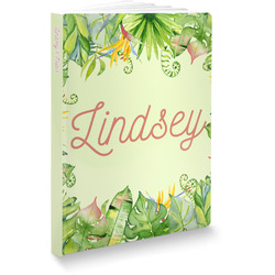Tropical Leaves Border Softbound Notebook (Personalized)