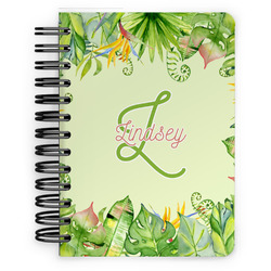 Tropical Leaves Border Spiral Bound Notebook - 5x7 (Personalized)