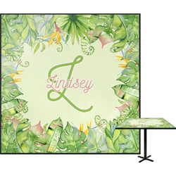 Tropical Leaves Border Square Table Top (Personalized)