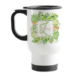 Tropical Leaves Border Stainless Steel Travel Mug with Handle