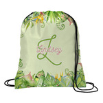 Tropical Leaves Border Drawstring Backpack (Personalized)