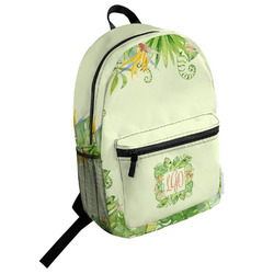 Tropical Leaves Border Student Backpack (Personalized)