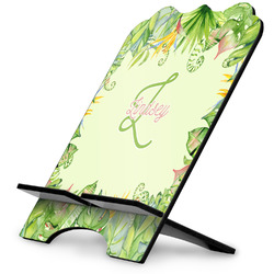 Tropical Leaves Border Stylized Tablet Stand (Personalized)