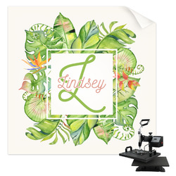 Tropical Leaves Border Sublimation Transfer (Personalized)