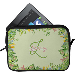 Tropical Leaves Border Tablet Case / Sleeve (Personalized)