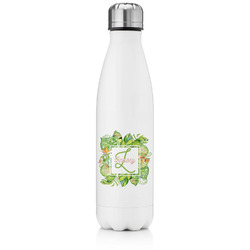 Tropical Leaves Border Tapered Water Bottle - 17 oz. - Stainless Steel (Personalized)