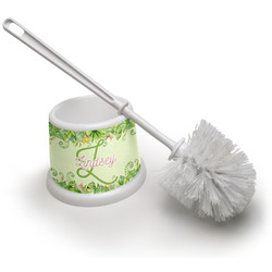 Tropical Leaves Border Toilet Brush (Personalized)