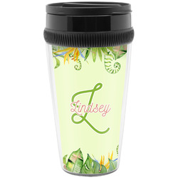 Tropical Leaves Border Travel Mug (Personalized)