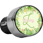 Tropical Leaves Border USB Car Charger (Personalized)