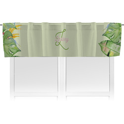 Tropical Leaves Border Valance (Personalized)