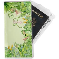 Tropical Leaves Border Travel Document Holder
