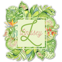 Tropical Leaves Border Graphic Decal - Custom Sizes (Personalized)
