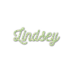 Tropical Leaves Border Name/Text Decal - Custom Sized (Personalized)