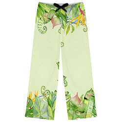 Tropical Leaves Border Womens Pajama Pants (Personalized)