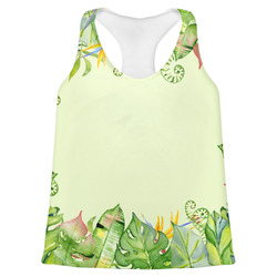 Tropical Leaves Border Womens Racerback Tank Top (Personalized)