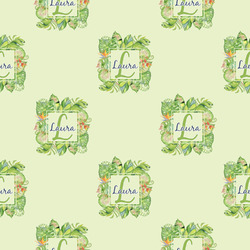 Tropical Leaves Border Wrapping Paper (Personalized)