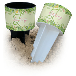Tropical Leaves Border Beach Spiker Drink Holder (Personalized)