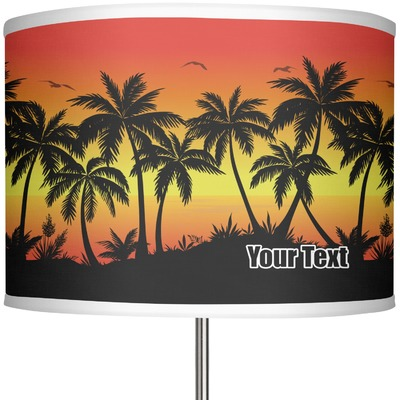 "Tropical Sunset 13"" Drum Lamp Shade (Personalized)"