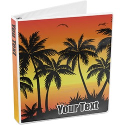 Tropical Sunset 3-Ring Binder (Personalized)