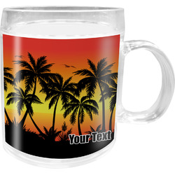 Tropical Sunset Acrylic Kids Mug (Personalized)