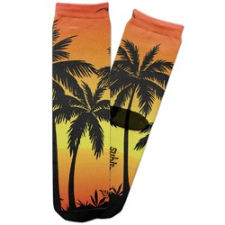 Tropical Sunset Adult Crew Socks (Personalized)